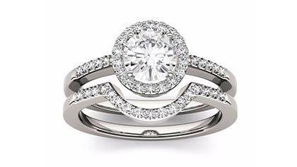Moissanite Bridal Sets Engagement Ring Sets Charles Colvard