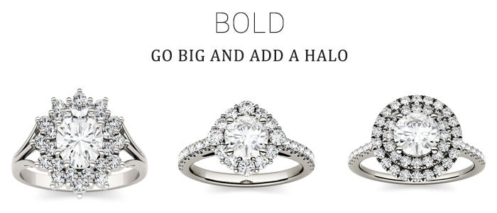 Moissanite Halo Engagement Rings for the Bold Bride