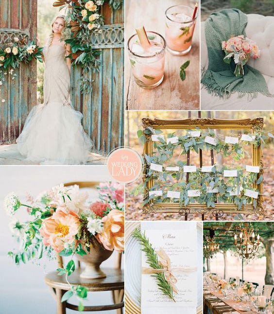 Country Wedding Ideas For Summer: Wedding Colors